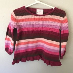 Hanna Andersson Striped Sweater Girls 2